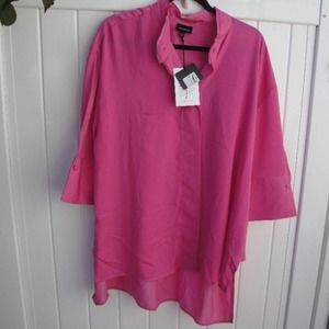 Who What Wear Chic Hot Pink Blouse XXL